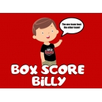 97.3 The Game Box Score Billy Short-Sleeve T-Shirt